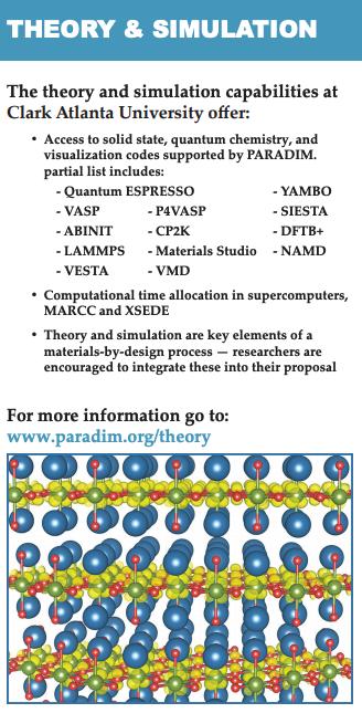 Theory and Simulation Facility (at Clark Atlanta University) | PARADIM