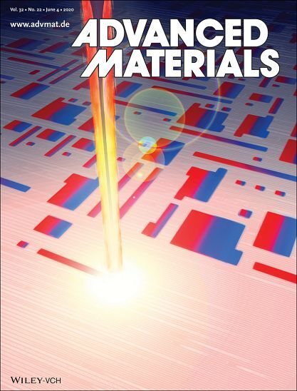 Journal cover showing laser heating FeRh